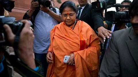 sadhvi niranjan jyoti, Union Minister Sadhvi Niranjan Jyoti, Hindu woman, Hindu nari shakti, Hindu woman marriage, sadhvi jyoti SNDP leader Natesan meeting, india news