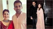 Zaheer Khan-Sagarika Ghatge wedding: Here's what the couple wore on their big day