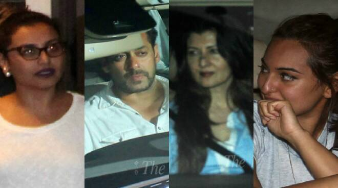 Salman Khan verdict: Rani Mukerji, Sonakshi Sinha, Sangeeta Bijlani meet the actor