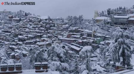 shimal news, shimal snowfall, himachal pradesh weather, himachal pradesh snowfall, indian express