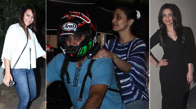 Sonakshi's night out, Ragini Khanna goes for a bike ride
