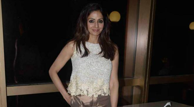 Sridevi's Monday night outing