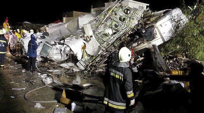 TransAsia Airways plane crashes in Taiwan, 48 dead