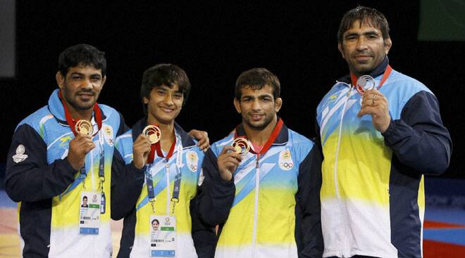 Golden hat-trick for grapplers, shooters continue shooting medals at CWG