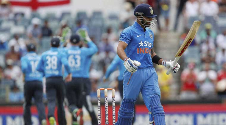 India's batting failed to fire again as the Men in Blue could only score 200 after put into bat by England. (Source: Reuters)