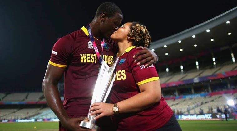 West Indies celebrate in 'champion' style