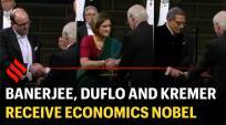 Banerjee, Duflo and Kremer receive economics Nobel