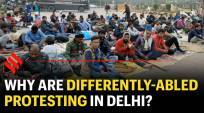 Denied jobs in Railways: differently-abled protest in Delhi again