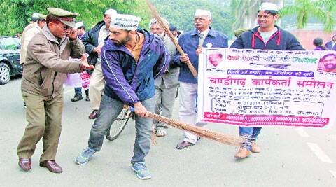 """The march began from Indulal Yagnik's statue in Lal Darwaja area of the city and it will cover all Lok Sabha constituencies of the state,"" AAP media coordinator Harshil Nayak said. Sumit Malhotra"
