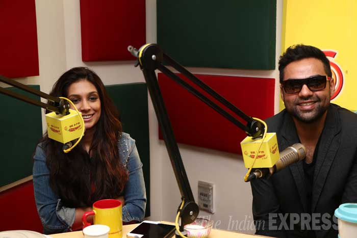 Abhay Deol and girlfriend Preeti Desai visited a radio station recently to promote their soon-to-release movie 'One By two'. (Photo: Varinder Chawla)