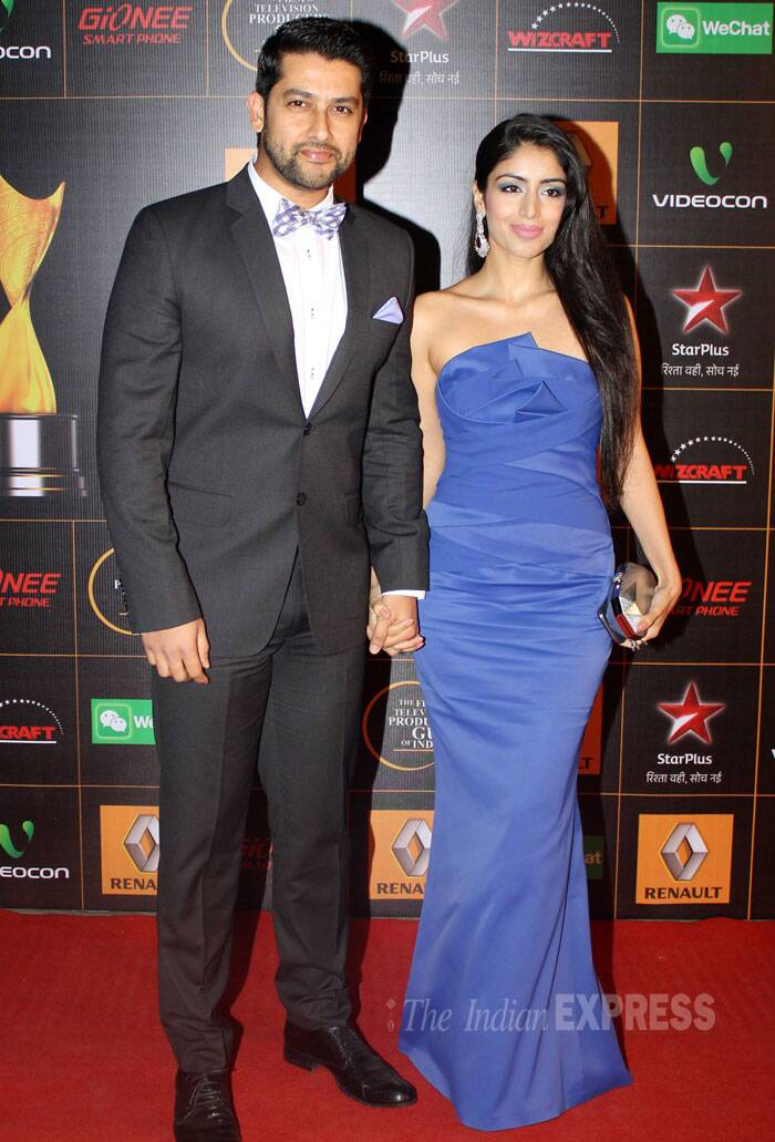 'Gran Masti' actor Aftab Shivdasani arrived with his girlfriend Nin Dusanj. (Photo: Varinder Chawla)