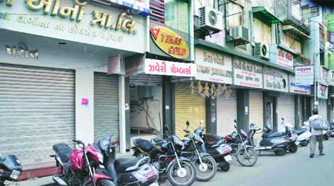 Jewellers observed a bandh in Ahmedabad, Bhuj, Rajkot and various parts of Saurashtra. Javed raja