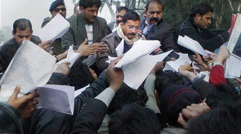 A majority of people at the durbar were contract workers seeking permanent jobs, Chief Minister Kejriwal said.