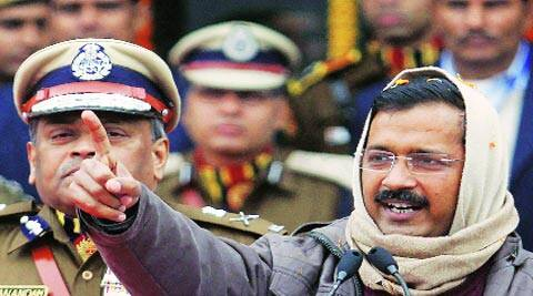 CM Arvind Kejriwal in New Delhi on Saturday. PRAVEEN KHANNA