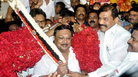 "Karunanidhi had charged that Alagiri had said that party treasurer ""M K Stalin would die in three months"". (PTI)"