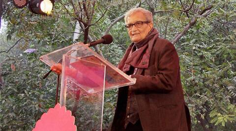 Amartya Sen said that the university funding will be resolved soon. PTI