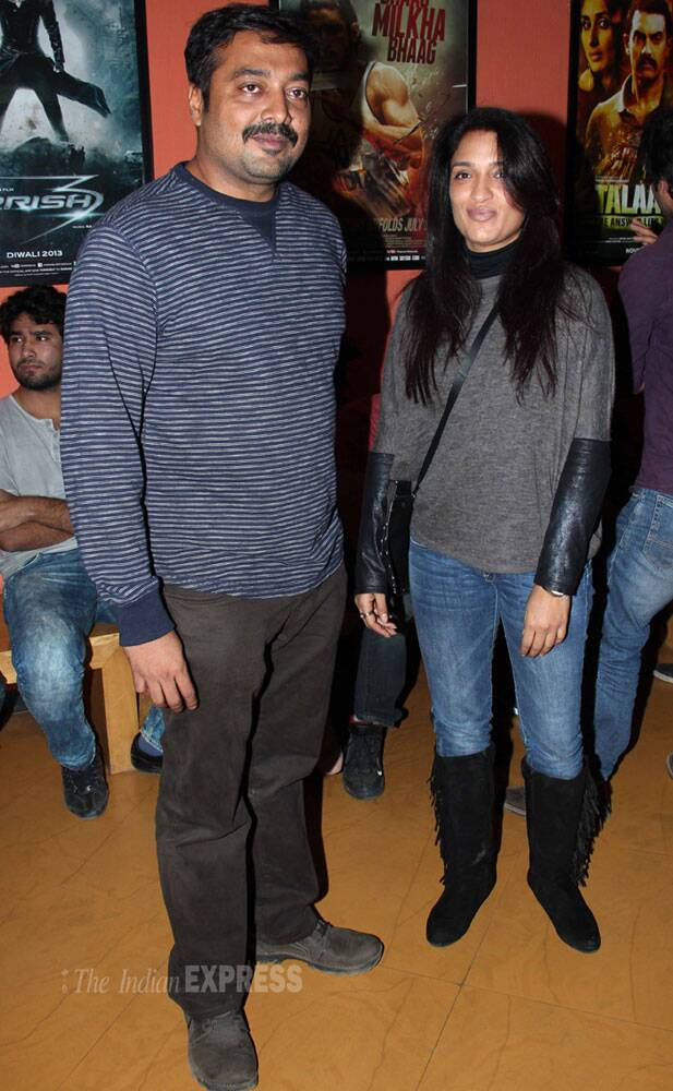 Anurag Kashyap strikes a pose with actress Sandhya Mridul. (Photo: Varinder Chawla)