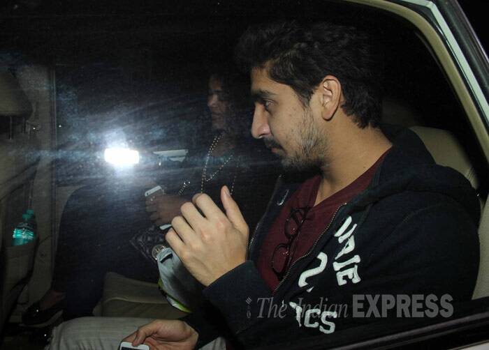 Also spotted making it to the party was Ranbir Kapoor's friend and 'Yeh Jawaani Hai Deewani' director, Ayan Mukerji along with girlfriend Aarti Shetty. (Photo: Varinder Chawla)
