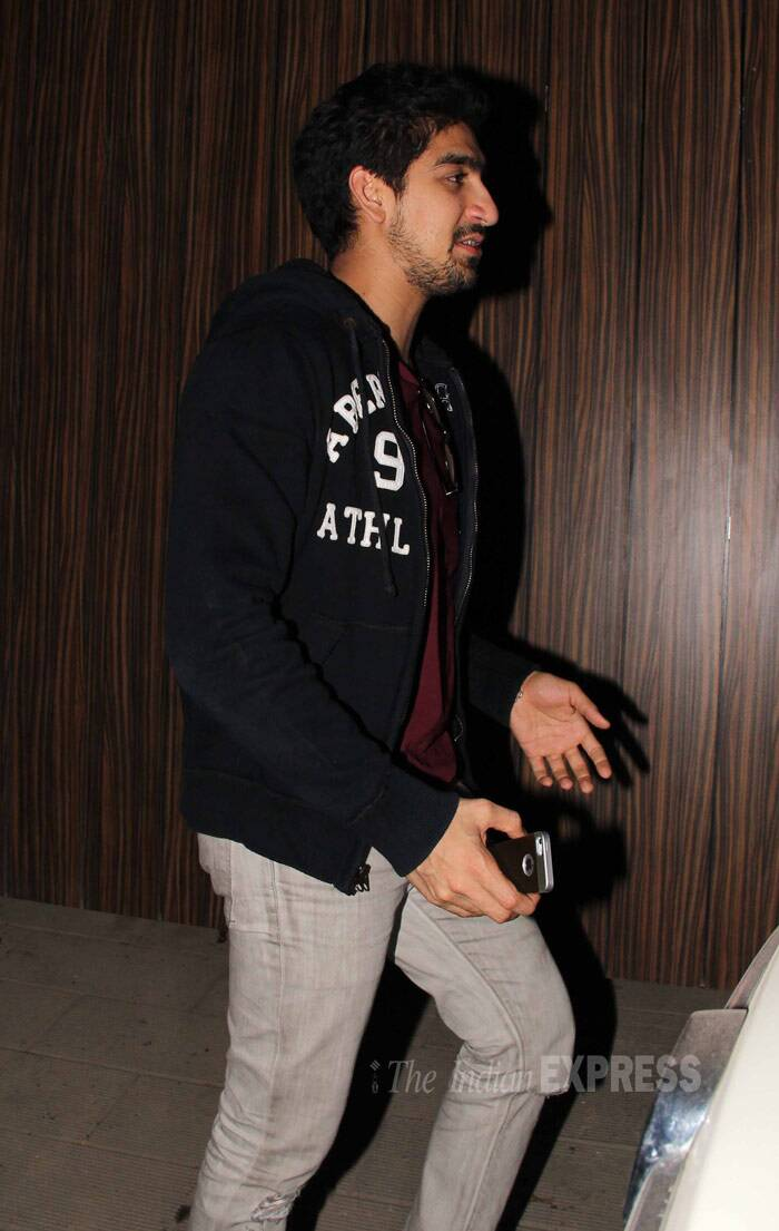 Ayan Mukherjee kept warm in a hoodie with denims and a tee shirt. (Photo: Varinder Chawla)