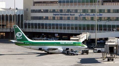 Attacks on Baghdad airport remain rare, and the authorities managing it often trumpet security at the facility. (AP)