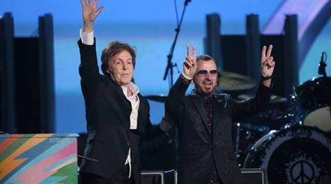 "With McCartney at the piano and Starr at his drums, the two played a new song ""Queenie Eye,"" a catchy tune that hearkened back to the Beatles' trademark hits."
