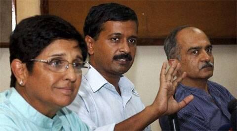 Bedi had worked with Kejriwal and was part of Team Anna during the Janlokpal movement in 2011. (PTI File Photo)