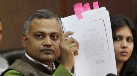 Law Minister Somnath Bharti. (Reuters)