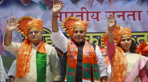 The BJP had suspended its seven of the 11 MLAs after they defying party whip had cross voted in favour of ruling National Conference candidates. (PTI)
