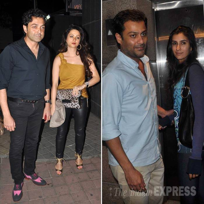 Actor Bobby Deol was also seen,  while 'Kai Po Che' director Abhishek Kapoor came with girlfriend Pragya. (Photo: Varinder Chawla)