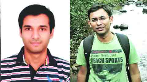 Pritam Gharate (L); Sanket Take (R)