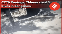 CCTV Footage: Thieves steal 3 bikes in Bengaluru