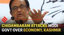 Chidambaram attacks Modi govt over economy, Kashmir, law & order