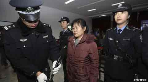 Zhang Shuxia is accused of selling seven babies, one of whom later died. (Reuters)