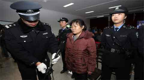 Zhang is on trial for allegedly selling seven babies taken from her former hospital (Reuters)