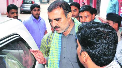 Dharmendra Chopra after his arrest. (Photo: IE)