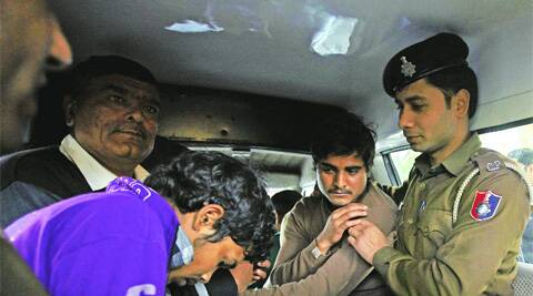 Anirudh and Raj Kumar after their arrest in Chandigarh on Monday.  ( Kamleshwar Singh)