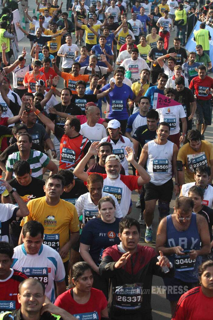 Mumbai gathers to run for a cause. (IE Photo: Deepak Joshi)