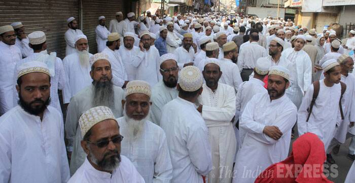 Over 40 people were injured in the stampede, the sources said. The injured have been admitted to the Saifee Hospital.  The Syedna was to celebrate his 103rd birthday in a few weeks, a spokesperson of the Bohra community said. (IE Photo: Prashant Nadkar)