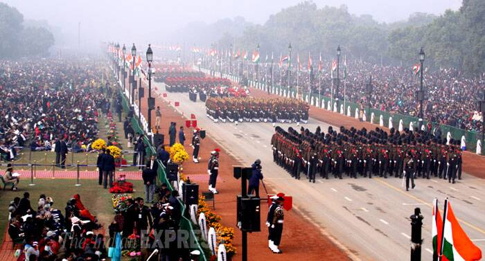 Marching down from the seat of power at Raisina Hills to Red Fort, the parade showcased India's 'unity in diversity' and defence capability. (IE Photo: Prem Nath Pandey)