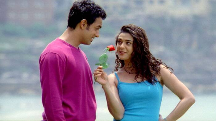 In 2001, Preity Zinta earned positive reviews for her role in Farhan Akhtar's National Film Award-winning 'Dil Chahta Hai'. Depicting the contemporary routine life of Indian affluent youth, it is set in modern-day urban Mumbai and focuses on a major period of transition in the lives of three young friends (Aamir Khan, Saif Ali Khan and Akshaye Khanna). Preity Zinta played Aamir Khan's love interest, Shalini. The film was a box-office success in India. Preity was a beautiful, vibrant and wavering between endearingly naive and confused.