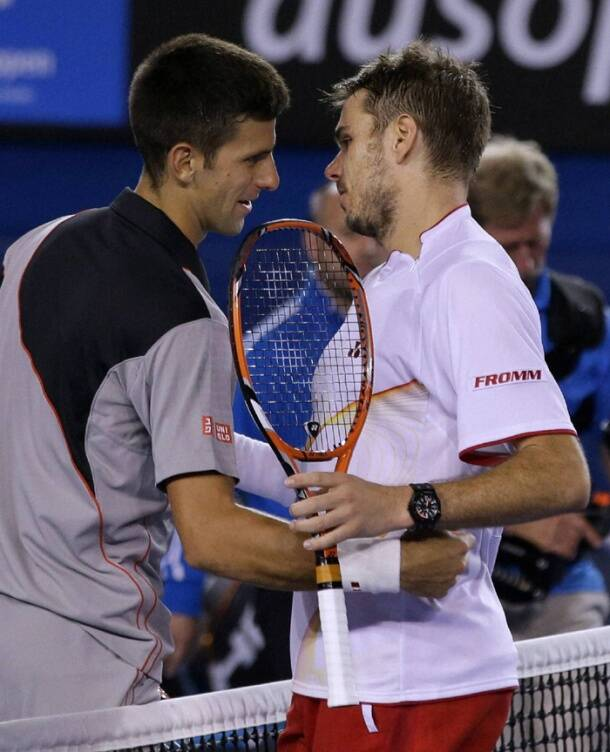 In the biggest upset of the day,   Stanislas Wawrinka ended Novak Djokovic's three-year reign at Melbourne Park (AP)