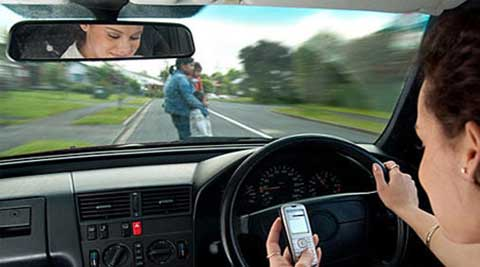 The risks of distracted driving were greatest for newly licensed teen drivers.