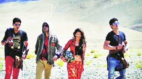 Vijendra Singh, Arfi Lamba, Kiara Advani and Mohit Marwah  shooting in Leh