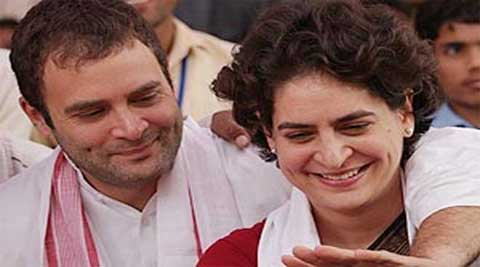 Sister to follow brother's example? Priyanka Gandhi's presence at the Congress meeting in Rahul's residence fuelled speculation as to whether she would become more politically active in the build-up to the General elections.