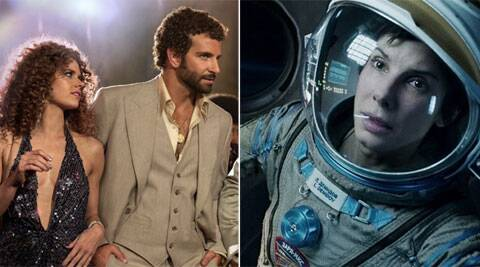 'American Hustle' and the 3-D space odyssey 'Gravity' lead the Academy Awards. (AP)