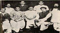 Shankar Kistayya, standing extreme left, was an accused in the assassination of Gandhi (Wikimedia commons)