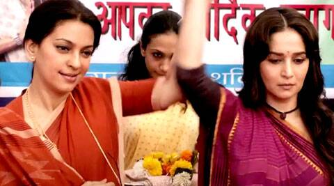 The first official trailer of the much awaited 'Gulaab Gang' is finally out.