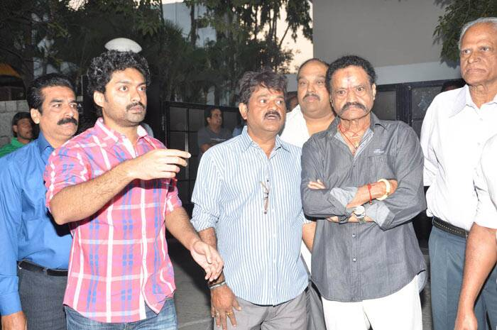 Telugu actor Nandamuri Harikrishna with actor Nandamuri Kalyan Ram ...