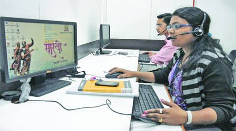 Sarathi helpline staff at work in Pimpri-Chinchwad.Rajesh Stephen