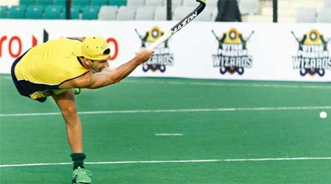 Dragflickers, who have been unimpressive in the event so far, honed their skills at the National Stadium on the rest day (IE Photo Ravi Kanojia)